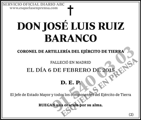 José Luis Ruiz Baranco